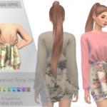 Long-Sleeved Floral Dress – annabluu's custom content