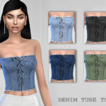 – DENIM TUBE TOP – 5 colors teen to elder… – Puresim
