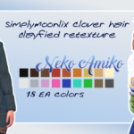Neko Amiko – SimplyMoonlix Clover hair clayfied retexture by…