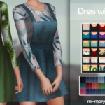 MS | MARY SIMS | Dress with sweater – new mesh – all LOD`s – HQ -…