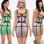 Harmonia's Pearl-sheen Latex Cage Dress
