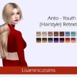 Lisaminicatsims' LMCS Anto – Youth (Hairstyle) Retexture