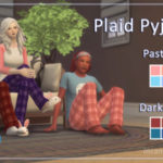 Maggie's Sims 4 Gallery – Plaid Pyjama Pants Recoloured using Noodles…