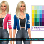 JustAGamerGirl25's Love & Evil Top Recolors – Mesh needed
