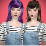 Jennisims: Downloads sims 4:Newsea Simple Lilac Fog Hair retexture