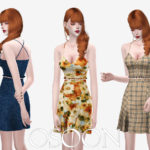 TS4 Osoon – [Osoon] Frill Swimsuit 18 Swatches New Mesh Custom…