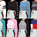 DescargasSims: Crop Tops – Long Sleeves Female T/Y/A/E HQ Mod…