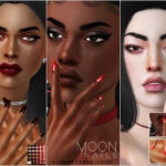 Pralinesims' Moon Nails N23