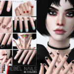 Pralinesims' Rebel Nails N25