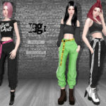 Helsoseira's MSGZ – Cuffed Cargo Pants