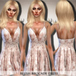 Black Lily's Blush Brocade Dress
