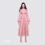 Long Chiffon Dress_롱 쉬폰 드레스_여자 의상 – SIMS4 marigold