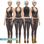 BustedPixels | Top / Bottom + Tights Set Base Game Compatible …