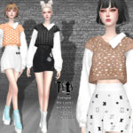 Helsoseira's TYTY – Knit Vest with Shirt – Top