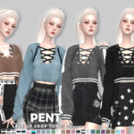 Helsoseira's PENT – Lace up Crop Top
