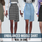 NEWEN — [Newen] Sims4 Unbalanced Middle Skirt New Mesh 20…