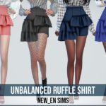 NEWEN — [Newen] Sims4 Unbalanced Ruffle Skirt New Mesh 20…