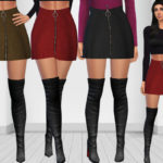 Saliwa's Winter Top Trends Front Zip Mini Skirts