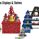 Around the Sims 4 | Custom Content Download | Christmas shelves & Displays