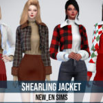 NEWEN — [Newen] Sims4 Shearling Jacket Top New Mesh…
