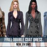NEWEN — [Newen] Sims4 Frill Double Coat Dress Dress…