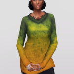 Rusty's — Long line V-neck Sweater V3 / Dust 15 Color…