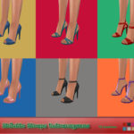 — Stiletto Straps Extravaganza – 6 pair of shoes…