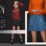 DarkNighTt's Zip Up Denim Skirt