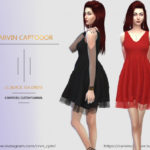 carvin captoor's Black Tea Dress