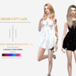 carvin captoor's CC.Sexy Dress Vintage Black Floral Lace