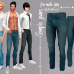 WistfulCastle's Simple jeans – for male sims
