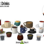 Around the Sims 4 | Custom Content Download | Drinkable hot drinks