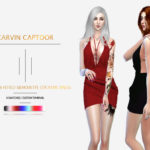 carvin captoor's CC.Loose & Fitted Silhouette Cocktail Dress