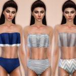 Black Lily's Ruffle Top Bikini