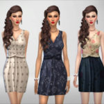 Devirose's Spring Blue/Brown Dress