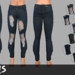 SLUMS – Starter Skinny Jeans for AM. A pair of Skinny…