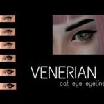 Venerian — TS4 cat eye eyeliner. Teen to elder. 6 swatches….