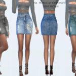 Sims House's Denim skirt with belt