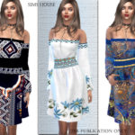 Sims House's Dress Boho Chic