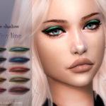 ANGISSI's Eye shadow -Shiny line