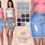 busra-tr's Clothes SET-08 (JEAN SKIRT) BD45