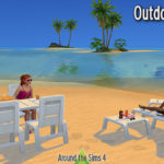 Around the Sims 4 | Custom Content Download | Maxis Match – Outdoors mini-set – Add-ons for the lounge chair