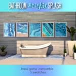 Acrylic Splash Bathroom Art – TS4